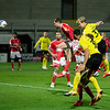 Picture: Richard Burley/Epic Action Imagery <br /> <br /> Burton Albion v Charlton Athletic - SkyBet League One - 24/11/2020<br /> <br /> Pictured: Sam Hughes (Burton Albion) piers a header in on goal during the SkyBet League 1  match between Burton Albion and Charlton Athletic at the Pirelli Stadium on Tuesday 24th November 2020.