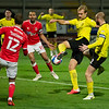 Picture: Richard Burley/Epic Action Imagery <br /> <br /> Burton Albion v Charlton Athletic - SkyBet League One - 24/11/2020<br /> <br /> Pictured: Sam Hughes (Burton Albion) reacts quickly and forces his rebounded header into the net for his side's 3rd during the SkyBet League 1  match between Burton Albion and Charlton Athletic at the Pirelli Stadium on Tuesday 24th November 2020.
