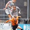 Picture: Richard Burley/Epic Action Imagery <br /> <br /> Barnet v Burton Albion - FA Cup Round 1 - 08/11/2020<br /> <br /> Pictured: Sam Hughes (Burton Albion) climbs high to win an aerial ball during the FA Cup Round 1  match between Barnet and Burton Albion at the Hive Stadium on Sunday 8th November 2020.