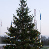 A ceremony was held at the Supreme Headquarters Allied Powers Europe in Mons, Belgium Dec. 11, 2012 to light the official SHAPE Christmas tree.  The SHAPE Christmas tree has been donated from the town of Malmedy for the past 45 years. (NATO photo by U.S. Army Sgt. 1st Class VeShannah J. Lovelace)