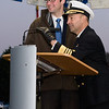 Adm. James Stavridis, Supreme Allied commander Europe and the mayor of Malmedy give the anticipated command to light the tree during the annual Christmas Tree Lighting ceremony at the Supreme Headquarters Allied Powers Europe in Mons, Belgium Dec. 11, 2012. The SHAPE Christmas tree has been donated from the town of Malmedy for the past 45 years.(NATO photo by U.S. Army Sgt. 1st Class VeShannah J. Lovelace)