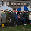 Service members and their families attended the annual Christmas Tree Lighting ceremony at the Supreme Headquarters Allied Powers Europe in Mons, Belgium Dec. 11, 2012. The SHAPE Christmas tree has been donated from the town of Malmedy for the past 45 years. (NATO photo by U.S. Army Sgt. 1st Class VeShannah J. Lovelace)