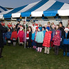 The Canadian School choir sang Oh Christmas Tree at the conclusion of the annual Christmas Tree Lighting ceremony at the Supreme Headquarters Allied Powers Europe in Mons, Belgium Dec. 11, 2012. The SHAPE Christmas tree has been donated from the town of Malmedy for the past 45 years.(NATO photo by U.S. Army Sgt. 1st Class VeShannah J. Lovelace)