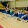 Members of the SHAPE Community participate in Circuit Training at the post gym led by British Royal Air Force Corporal Steve Furness, Physical Training Instructor April 5. (NATO photo by U.S. Army Sgt. 1st Class VeShannah J. Lovelace)