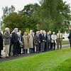 Ceremony for unveiling the commemoratieve plaque in honor of General Shalikashvili at SHAPE in Belgium on 12 October, 2012.<br /> (Photo by RNLAF Sgt Peter Buitenhuis)