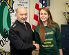 SACEUR, Adm. James Stavridis presents coins to the SHAPE cross country team at the SHAPE International High School. Jan. 28, 2013.<br /> (photo by RNLAF Sgt. Peter Buitenhuis)