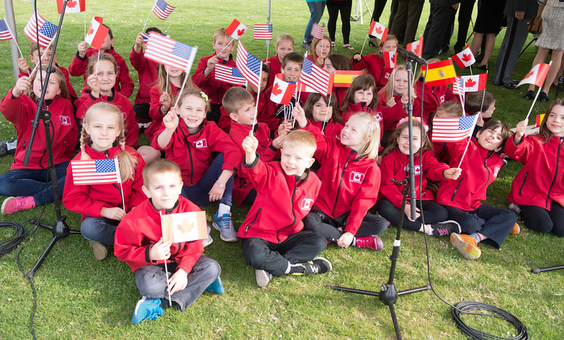 SHAPE celebrates 50 years in Mons<br /> <br /> Students from the SHAPE Canadian Elementary School Choir prepare to sing during the celebration of the 50th Anniversary of the Surpeme Headquarters Allied Powers Europe in Mons on March 31, 2017 (NATO Photo by Sgt. 1st Class Stefan Hass – DEUA)