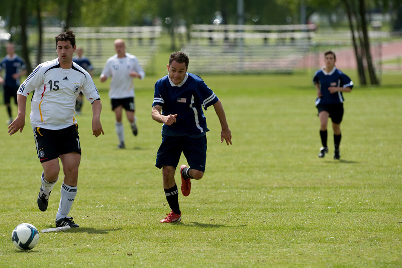 On 19 May,2010 SHAPE national teams compete for the title of SACEUR trophy for football. (Photo by SGT Intisar Sabree, US Army)