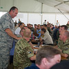 SACEUR, General Breedlove & CSEL Tod Small meet NCO's during the Steak Team Mission- 02 Sept 2013( NATO/photo: Sgt. Emily Langer/DEU Army)