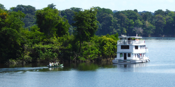 Great Rivers boat by FIELD GUIDES Brazil participants David & Judy Smith