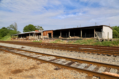Train Track Building and Car Wash Barnesville