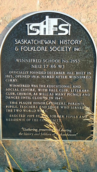 Winnifred School No.2853
