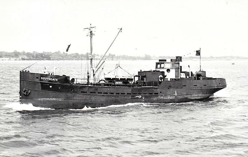 1925 to 1956 - SOUTHGATE - Tanker - 143GRT - 1925 Amble Shipbuilding Co., No.39 - 1956 CISTERNA, 1957 PIET SCHIPPER - 1970 sank 3nm from Haisbro' Light.
