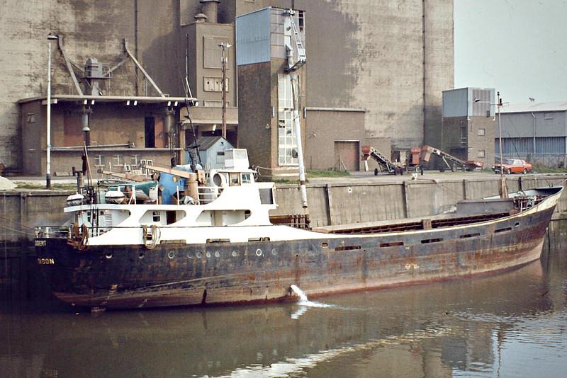 1977 to 1982 - JUBERT - Cargo - 430GRT/419DWT - 45.3 x 8.5 - 1963 John Lewis & Co., Aberdeen, No.342 as ORIOLE (1963-77) - 1982 JUDERT II -- 04/03/83 sunk in collison with EVERT off Algeria - Boston, loading grain, 04/82.
