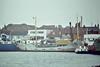 1983 to 1989 - SEA HUSKY - Cargo - 400GRT/526DWT - 48.8 x 8.0 - 1962 Scheeps Gebr Coops, Hoogezand, No.229  as LENIE (1962-78) - 1978 BRENDA C, 1982 ISOLDA - 01/89 broken up at Rainham - Wells-next-the-Sea, loading grain, 09/83.