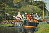 CRINAN CANAL - Puffers, small boats and yachts bound for the West Coast use the Crinan Canal to avoid the long journey round the Mull of Kintyre. Many puffers were built with the dimensions of the Canal in mind - posted November 11th, 1963.