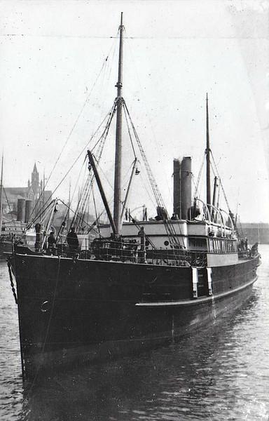 Belfast SS Co. - 1893 to 1911 - MYSTIC - Pass/Cargo - 726GRT - 67.3 x 8.9 - 1893 Harland & Wolff Ltd., Belfast, No.266 - 1911 CARRICKFERGUS, 1931 LAIRDSBEN - 04/37 broken up at Glasgow.