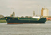 2006 to 2009 - FULMAR - Cargo - 794GRT/1377DWT - 58.3 x 9.5 - 1989 Yorkshire Drydock Co., Hull, No.316 as HOO FINCH (1989-06) - 2009 ARIADNE, 2011 FINCH, 2012 ADAM (COM) - Boston, having swung, inward bound to load grain on a river berth, 15/08/07.