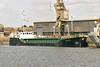 2006 to 2009 - CURLEW - Cargo - 794GRT/1400DWT - 58.3 x 9.5 - 1986 Yorkshire Drydock Co., Hull, No.295 as HOOCREST (1986-2006) - 2009 RIVER CARRIER, 2011 NOAH (MDV) - still trading - Kings Lynn, Bentinck Dock, loaded with grain, waiting to sail, 08/08/07.