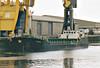 2006 to 2009 - FULMAR - Cargo - 794GRT/1377DWT - 58.3 x 9.5 - 1989 Yorkshire Drydock Co., Hull, No.316 as HOO FINCH (1989-06) - 2009 ARIADNE, 2011 FINCH, 2012 ADAM (COM) - Boston, loaded with grain, waiting to sail, 08/08/07.