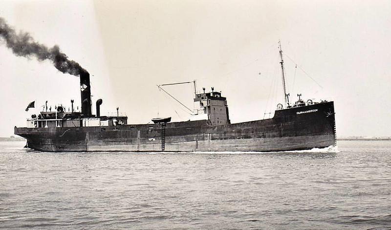 1945 to 1952 - DURHAMBROOK - Cargo - 808GRT - 56.8 x 9.0 - 1916 Williamson Shipbuilders, Workington, No.222 as STEPNEY (1916-45) - 1952 KYLEBURN - 09/57 broken up at Llanelli.