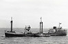 1953 to 1956 - TEESWOOD - Cargo - 1246GRT/1555DWT - 68.9 x 10.8 - 1953 Burntisland Shipbuilders, No.359 - 29/07/56 capsized 4nm east of Dungeness, 31/07/56 sank 2nm off Dover, Blyth for Shoreham with coal.