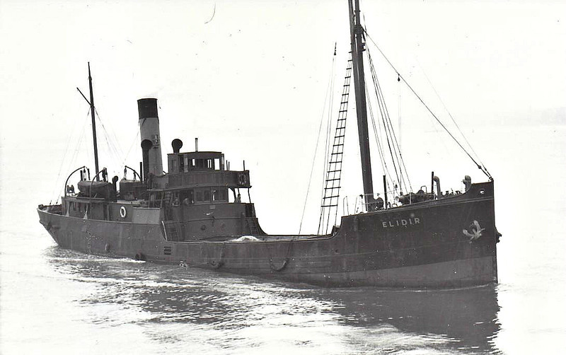 1903 to 1955 - ELIDIR - Cargo - 423GRT - 46.2 x 7.7 - 1903 Ailsa Shiobuilding Co., Ayr, No.120 - 1942 to Coppack Bros., name unchanged - 06/55 broken up at Preston.