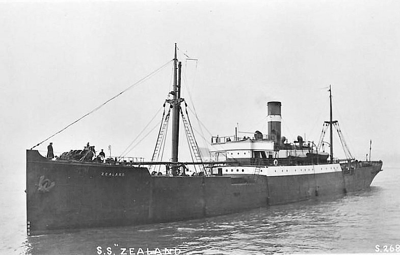 1906 to 1935 - ZEALAND - Cargo - 1718GRT - 79.2 x 11.0 - 1906 Barclay Curle & Co., Whiteinch, No.465 - 1935 FAIR HEAD - 05/05/41 mined in Dufferin Dock, Belfast, broken up at Bangor, Co. Down.