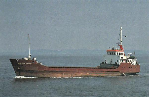 1989 to 1984 - BRESSAY SOUND - Cargo - 664GRT/953DWT - 57.5 x 10.1 - 1978 Jadewerft, Wilhelmshaven, No.144 as EDGAR DORMAN (1978-89) - 1994 LANCRESSE, 1997 BURHOU I (GBR) - still trading.