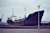 1977 to 1988 - THRUSCROSS (Liverpool) - Tanker - 498GRT/691DWT - 56.5 x 8.4 - 1954 Scheeps Noord Nederlandsche, Groningen, No.273 as STELLA MARIS (1954-71) - CONSTANCE (1971-77) - 11/88 broken up at Milford Haven - Goole, on the slipway, 08/81.