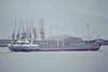 1980 to 1983 - RADCLIFFE VENTURER - Cargo - 496GRT/960DWT - 60.1 x 9.3 - 1964 Scheeps Bodewes, Martenshoek, No.475 as TILLY (1964-69) - HENRIETTE II (1969-72), HATTSTEDT (1972-74), BEA (1974-80) - 1983 NEW VENTURE, 1985 PAULINE S, 1990 MAK H-1 - 12/07/91 sank off Archipelago Las Aves - Northfleet, outward bound, 04/82.
