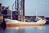1983 to 1985 - NEW VENTURE - Cargo - 496GRT/960DWT - 60.1 x 9.3 -  1964 Scheeps Bodewes, Martenshoek, No.475 as TILLY (1964-69) - HENRIETTE II (1969-72), HATTSTEDT (1972-74), BEA (1974-80),  RADCLIFFE VENTURER (1980-83) - 1985 PAULINE S, 1990 MAK H-1 - 12/07/91 sank off Archipelago Las Aves - Kings Lynn, loading grain on Boal Quay, 02/84.