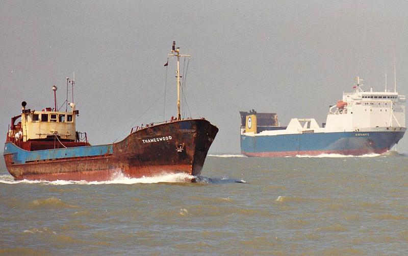 1968 to 1987 - FORMALITY - Cargo - 199GRT/424DWT - 41.4 x 7.7 - 1968 Clelands Shipbuilders, Wallsend, No.304 - 1987 EAU DE VIE, 1988 THAMESWOOD (GBR) - still trading - seen here as THAMESWOOD (GBR).