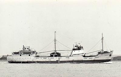 1956 to 1978 - SANGUITY - Cargo - 1577GRT/1873DWT - 73.4 x 11.6 - 1956 Grangemouth Dockyard Co., No.511 - 1978 RAMONA - 12/94 broken up at Bruges.