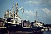 1976 to 1987 - DELTA-G - Cargo - 500GRT/818DWT - 57.5 x 9.0 - 1958 Scheeps Amels, Makkum, No.211 as DELTA (1958-76) - 10/05/87 sank off Varberg, Landskrona for the Humber with fertiliser - Wisbech, unloading soya meal at Tradax, 05/81.