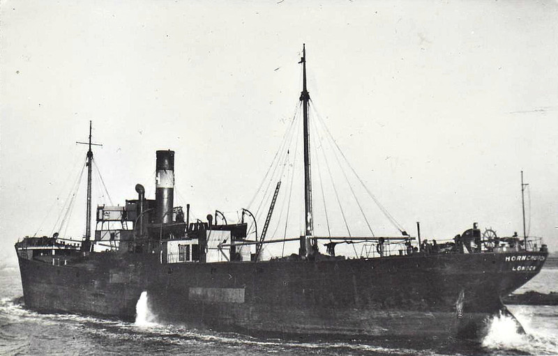 1919 to 1940 - HORNCHURCH - Cargo - 2162GRT - 85.3 x 12.3 - 1919 Osbourne Graham & Co., North Hylton, No.258 - 12/07/40 sunk by aircraft bombs 8nm east of Aldeburgh, Methil for London with coal.