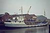 1981 to 1991 - JONSUE - Cargo - 351GBR/433DWT - 47.2 x 7.1 - 1950 Scheeps Terneuzensche, No.46 as CAMPEN (1950-54) - 1954 FAVORIET, 1955 MERWESTAD, 1969 EAGLE 2, 1971 FRETHERNE - Fosdyke, unloading fertiliser, 04/82 - 1991 sank at Fosdyke, broken up in situ.