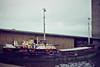 1984 to 1986 - ROYE (Panama) - IMO5131220 - Cargo - 299GRT/470DWT - 47.1 x 8.4 - 1961 Schiffs Alfred Hagelstein, Travemunde, No.604 - still trading as SV NIKOLA (HRV) - Kings Lynn, loading grain in Bentinck Dock, 12/84.