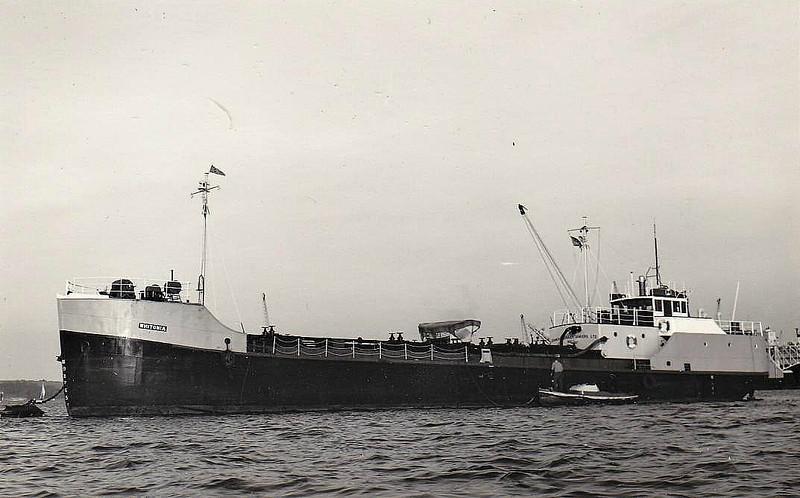 1956 to 1968 - WHITONIA - Tanker - 216GRT - 31.3 x 6.1 - 1950 Schiffs Fritz Frank, Wilhelmsburg, No.66 as ROBERT ECKELMANN (1950-56) - 1951 lengthened to 43.3m, 316GRT/435DWT) - 1968 GERARD - 1972 broken up at Nieiw Lekkerland.
