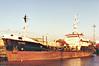 1987 to 2000 - WHITANK - IMO7615751 - Tanker - 690GRT/1000DWT - 61.0 x 9.6 - 1976 Stocznia Wroclawska, No.ZB1000/2 as LUBAN (1976-87) - 2000 ALFA TANK, 2003 OSTA (RUS) - still trading - seen here in Albert Dock, Hull.