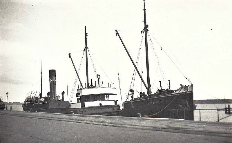 1921 to 1939 - ERNRIX - Cargo - 692GRT - 53.3 x 8.9 - 1921 Cochrane & Sons Shipbuilders, Selby, No.702 - 23/06/39 sank 1.5nm west north west of Saltscar Buoy, River Tees.