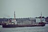 1964 to 1986 - LESRIX - Cargo - 726GRT/1041DWT - 61.2 x 10.0 - 1957 Schiffs Jos L Meyer, Papenburg, No.485 as WHITEHAVEN (1957-64) - 1986 NAN I, 1992 CHADA, 1993 SHAMAN I, 1994 UROUBA I - 06/04 broken up in Romania - seen here ar Woolwich, 06/81.