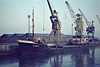 1960 to 1984 - KENRIX - Cargo - 592GRT/826DWT - 57.5 x 8.6 - 1960 Scheeps Appingedam, No.185 - 1964 lengthened to 61.9m., 635GRT/940DWT - 1984 DEER SOUND, 1988 MADI, 1990 ASRA, 1992 ALHAJEH MARIAM, 1995 EMAN - still trading - Kings Lynn, to unload soya meal, 02/81.