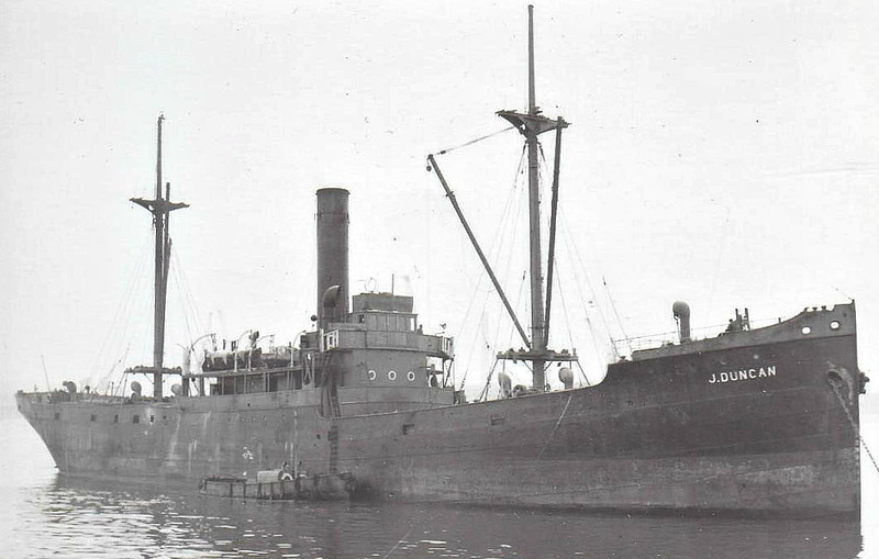 1914 to 1956 - J DUNCAN - Cargo - 1832GRT - 79.3 x 11.7 - 1914 Dublin Dockyard Co., No.85 - 06/56 broken up at Milford Haven.