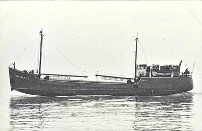 1940 to 1969 - DOMINENCE - Cargo - 261GRT/320DWT - 36.1 x 7.5 - 1940 J Pollock & Sons, Faversham, No.1726 - 12/69 broken up at Rochester.