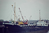 1982 to 1987 - TERENCE - Cargo - 424GRT/685DWT - 53.2 x 8.4 - 1955 JJ Sietas Schiffs, Hamburg, No.388 as KLAUS BLOCK (1955-64) - SUDERELV (1964-69), TILLA DORIS (1969-78), DOLORIS (1978-80), LETICIA (1980-82) - 1993 TILIA DORIS, 1993 DEBORAH JEAN, 1996 MIRAGE I, 1997 ST.JACQUES - 2002 broken up - Wisbech, unloading potatoes for MacCain's at Whittlesey, 05/82.