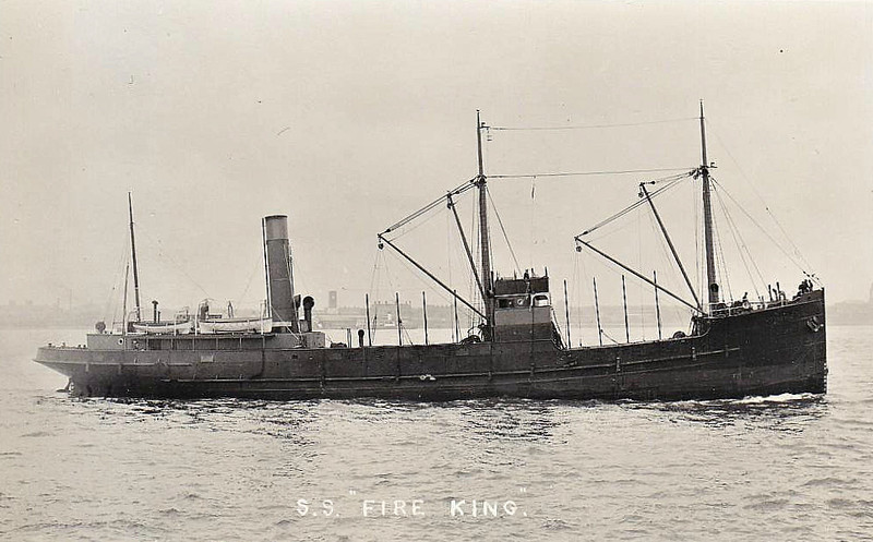 1925 to 1939 - FIRE KING - Cargo - 758GRT - 58.0 x 9.8 - 1925 John Duthie Torry Shipbuilding Co., Aberdeen, No.468 - 10/12/39 sunk in collision off Point of Ayre, Isle of Man.