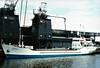 1976 to 1991 - BEN AIN - Cargo - 500GRT/756DWT - 55.9 x 8.7 - 1966 Scheeps Boeles, Bolnes, No.1023 as DEBEN (1966-71) - GRETCHEN WESTON (1971-76) - 1991 PRINCE - ABDOULAH - ABDOULAH I - 09/01 lost at sea - seen here as DEBEN (GBR).