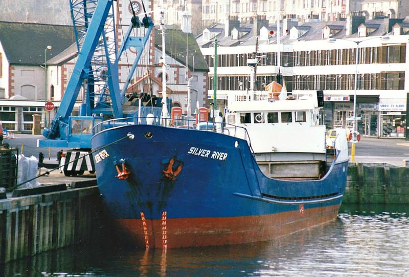 1986 to DATE - SILVER RIVER - Cargo - 209GRT/376DWT - 44.7 x 7.4 - 1968 Scheeps Gebr Schlomer, Oldersum, No.185 as SEACON (1968-71) - SEATRENT (1971-83), NATHURN (1983-86) - still trading as SILVER RIVER (IOM).