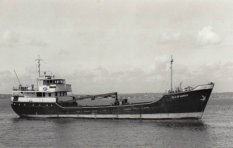 1965 to ???? - ISLE OF HARRIS - Cargo - 269GRT - 43.2 x 7.2 - 1949 Scheeps Voorwarts, Martenshoek as MARIA S (1949-62) - FLORO (1962-65) - fate not known.
